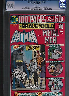 Brave and the Bold # 113 CGC 9.0  White Pages. UnRestored.