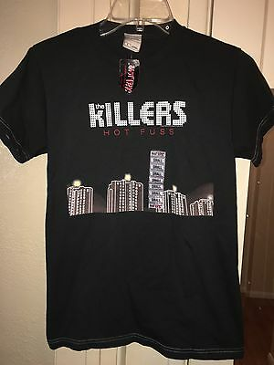 New The Killers Hot Fuss Official 2004 Concert TShirt Black White Stitching Sz.S