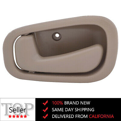 Beige Tan Inside Interior Door Handle Left Driver Side for 98-02 Toyota Corolla