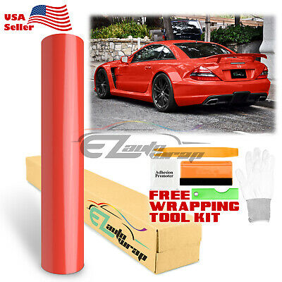 * Premium Gloss Glossy Red Vinyl Car Wrap Sticker Decal Bubble Free Sheet Film