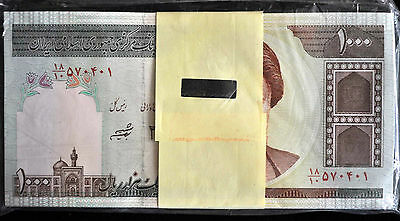 Iran 1000 Rials Complete Bundle of 100 Uncirculated UNC
