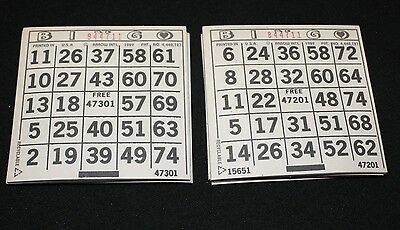 BINGO PAPER Cards 1 on's singles   200 sheets  White Solid FREE SHIPPING