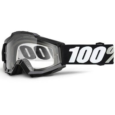 100% Percent NEW Mx Over the Glasses Accuri Tornado Black Motocross OTG Goggles