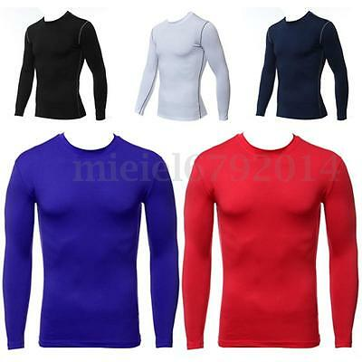 Men Boys Compression Armour Baselayers Thermal Base Layer Gear Under Long Shirt