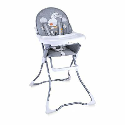 Lorelli Baby Feeding High Chair Seat Grey Rabbit Foldable Child Infant
