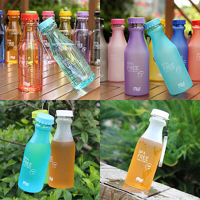 550ml BPA Free Unbreakable Plastic Water Bottle Bicycle Cycling  Camping Sports