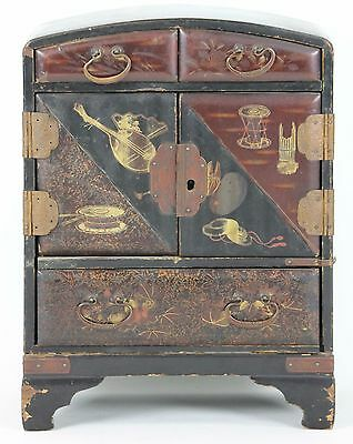 Jeweler Lacquered Wood. Auctions In Metal. China ?. Xix Century.