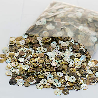 Clearance! 1,000 Mother of Pearl Shell Buttons - 13mm Wide