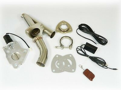 "STAINLESS UNIVERSAL EXHAUST CUTOUT-OUT VALVE E-CUT KIT REMOTE 2"" / 50,8 mm"