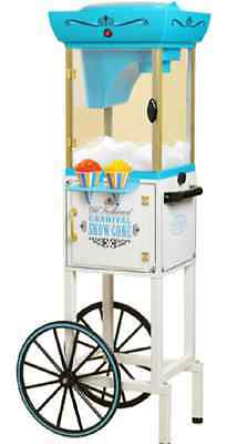 Vintage Collection Snow Cone Cart, Ice Sno Shaver Machine Concession Stand
