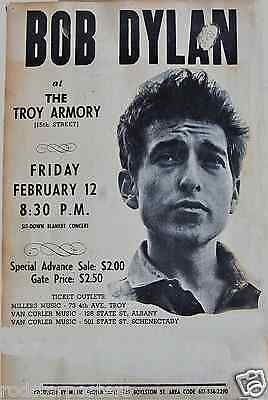 0454 Vintage Music Poster Art - Bob Dylan At The Troy Armory