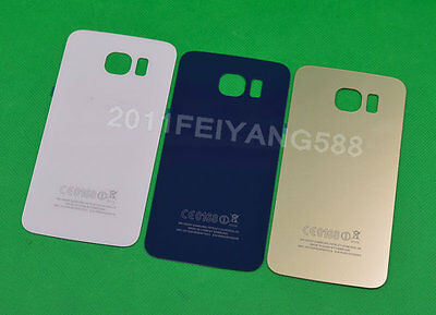 For Samsung Galaxy S6 G920F Housing Battery Glass Cover Rear Door Back Cover