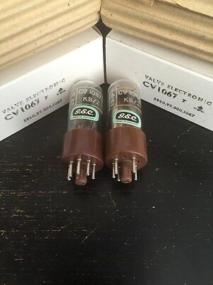 L63 Cv1067 Gec Nos Boxed Matched Pair Valve/tube