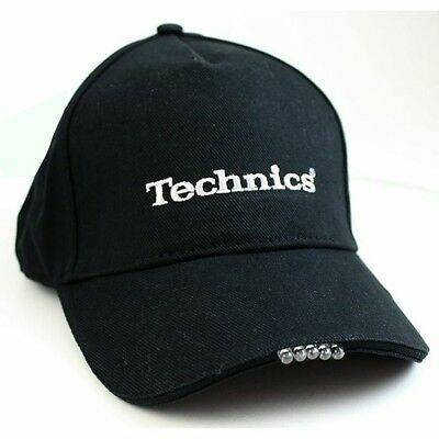 Technics LED Torch Light Baseball Cap in black (includes replacement battery)