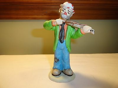 Emmett Kelly Jr. - Clown Playing A Violin - Flambro Collectors Series