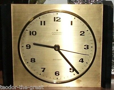 Vintage JUNGHANS Ato Mat - 60s, gold color, electronic wall clock