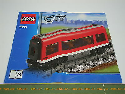 Légo TRAIN LEGO CITY - Notice de Montage voiture restaurant TRAIN EXPRESS 7938