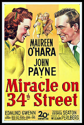 Miracle On 43 th Street FRIDGE MAGNET 6x8 Magnetic Movie Poster Canvas Print