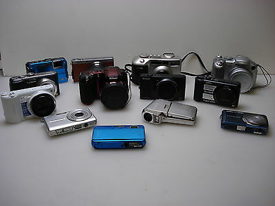 Digital Camera lot. 13 pieces SONY,CANON,SAMSUNG,NIKON,LUMIX,SANYO,CASIO,