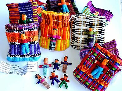 Worry Dolls in Bags 20 Of 6 Small Handmade Guatemalan Fair Trade Trouble Dolls