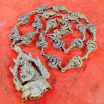 Antique Necklace Talisman Naka Rare Serpent Old Thai Powerful Protection