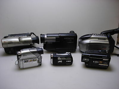 6 Digital Camcorders for spares or repair. SONY, CANON, JVC. PANASONIC. HITACHI.