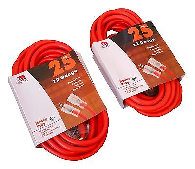15-Ft Extension Cord 10 Gauge Lit End AWG Heavy Duty UL NEW 10/3 Foot Feet