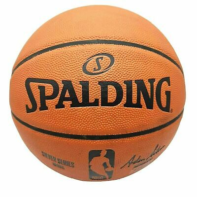 SPALDING SILVER NBA BASKETBALL GAME BALL OFFICIAL Indoor / Outdoor Size 7