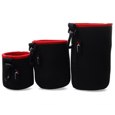 Neoprene DSLR Camera Lens Soft Protector Pouch Waterproof Case Bag Set S M L XL