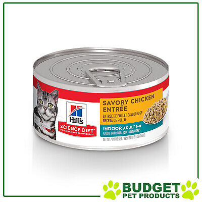 Hills Science Diet Feline Cans Indoor For Adult Cats 156gm X 24