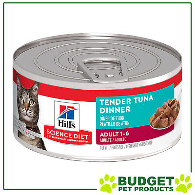 Hills Science Diet Feline Cans Tender Tuna For Adult Cats 156gm X 24