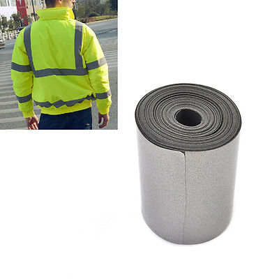 5cm x 5m Silver Reflective Safety Warning Tape Fabric Elastic Material Iron On