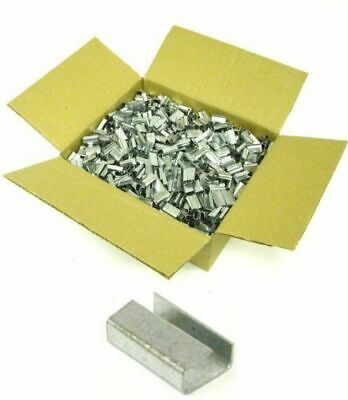 2000 x 12mm Metal Clips Seals For Use With Plastic Banding Strapping Tools