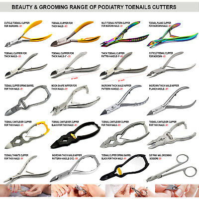 Range Of Chiropody Podiatry Footcare Ingrown Long Reach Toenail Clippers Nippers