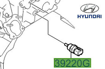 Genuine Hyundai i10 Coolant Temperature Sensor - 3922038030