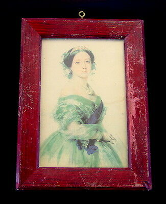 Antique Portrait Queen Victoria Of The United Kingdom In Frame