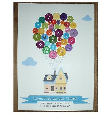 UP Inspired Personalised Button Balloon House Art Print Adventure is out There