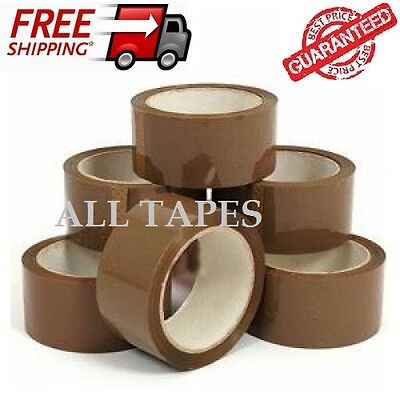 PARCEL PACKAGING 6  Strong Quality48mm x 66M Rolls- BIG BROWN-BUFF-TAPE