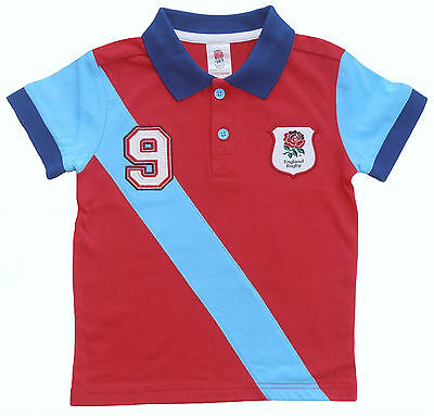 England Rugby Baby Polo Shirt Kids Rfu Rugby  T-Shirt Official Product