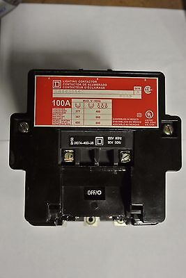 Square D 100 Amp 3 Phase Lighting Contactor  Cat: 8903S002 Ser. A 120 volt coil