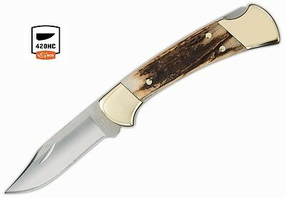 Buck Knives 112 Genuine Stag Ranger Folding Knife Factory Exclusive 112STSSH