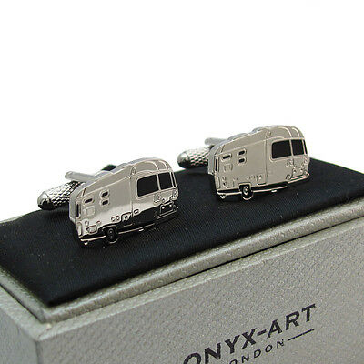 Excellent Novelty Caravan Cufflinks Cuff Links by Onyx Art New Boxed
