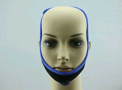 UK  Anti Snoring Chin Strap Belt Stop Snore Device Apnea Jaw Support Solution