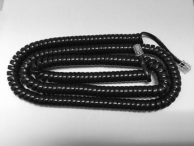 NEW 25' Long Black Handset Cord for Avaya / Lucent / AT&T Merlin Business Phone