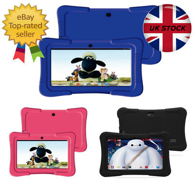 """Kids 7"""" Tablet Fast Btc® Flame Wifi Android Bluetooth 8Gb - Bundle Bumper Case"""