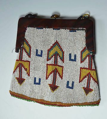 Native American Indian Plains Beaded Purse