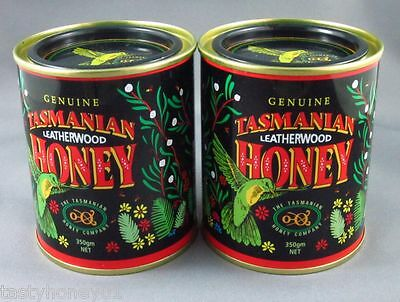 Tasmanian Leatherwood Honey,  Twin pack,  2 * 350gm tins,  *Free shipping*