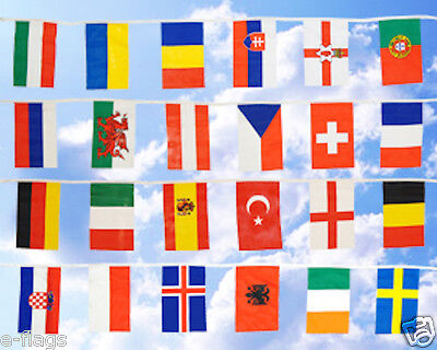 European Fabric Flags Bunting 2 Sizes Xl Or Medium