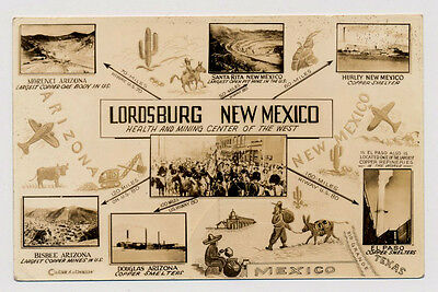 Vintage 1930's LORDSBURG New Mexico Health & Mining Center of West postcard RPPC