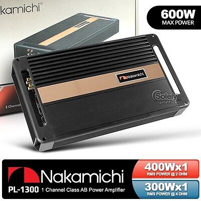New NAKAMICHI PL-1300 Monoblock Car Amplifier Sub Mono Amp 1CH 400W RMS Power